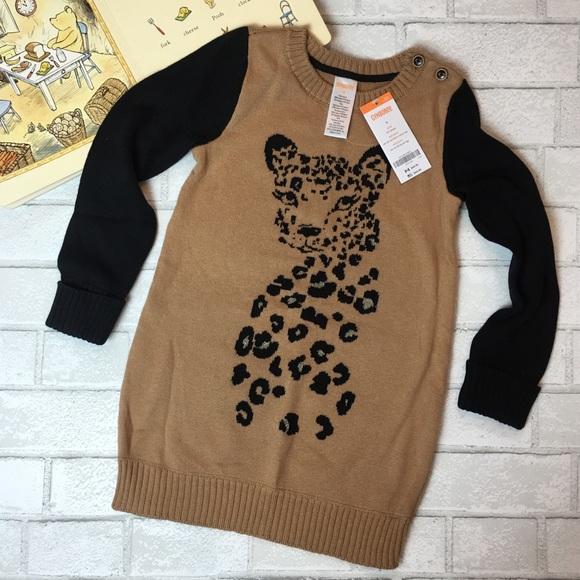cd395b27365 NEW Gymboree Girls Leopard Sweater Dress Size 5